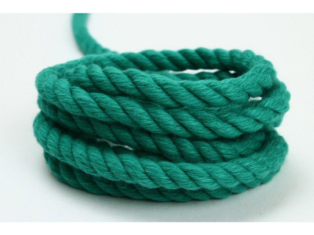 Stáčené lano Velvetina - zelená