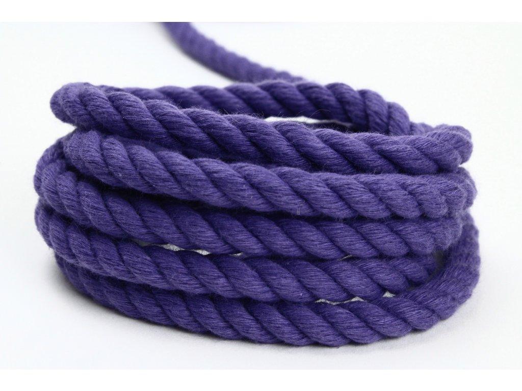 Stáčené lano Velvetina - fialová