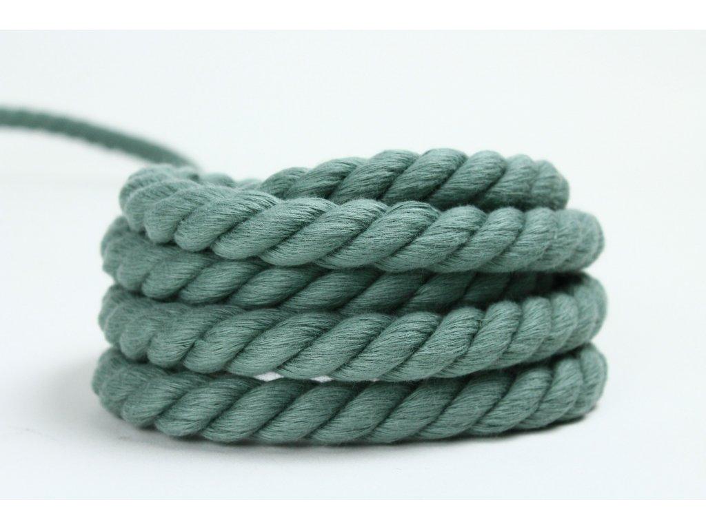 Stáčené lano Velvetina - olivová