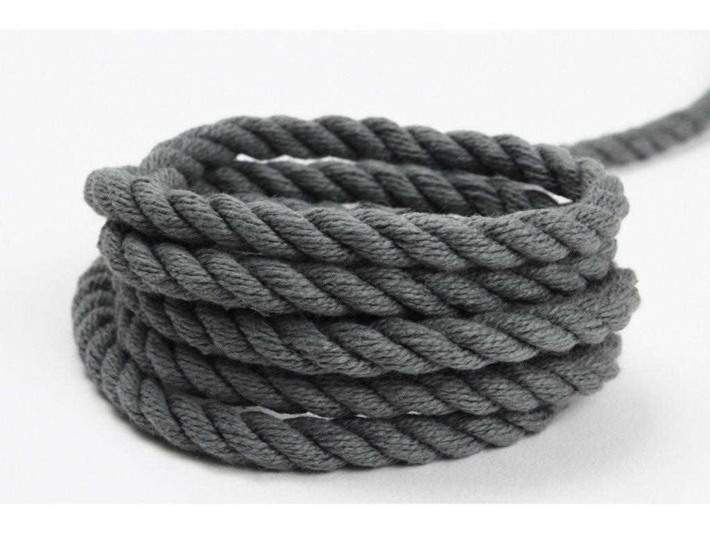 Stáčené lano Velvetina - šedá