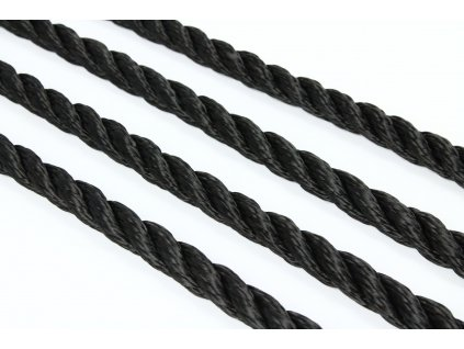 Stáčené lano SPP - černá