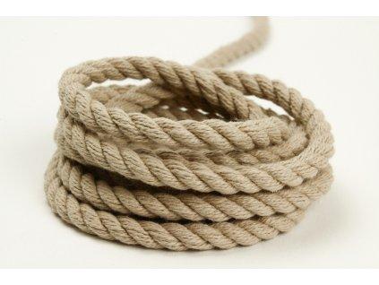 Stáčené lano Velvetina - béžová