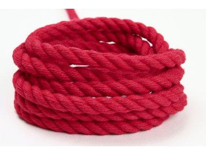 Stáčené lano Velvetina - červená