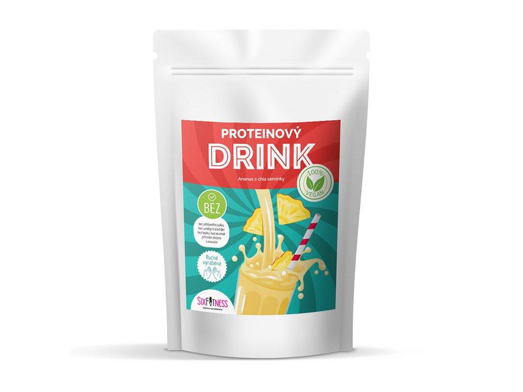 Veganský proteinový drink - ananas s chia semínky