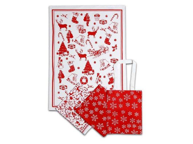 vánoční utěrka v tašce