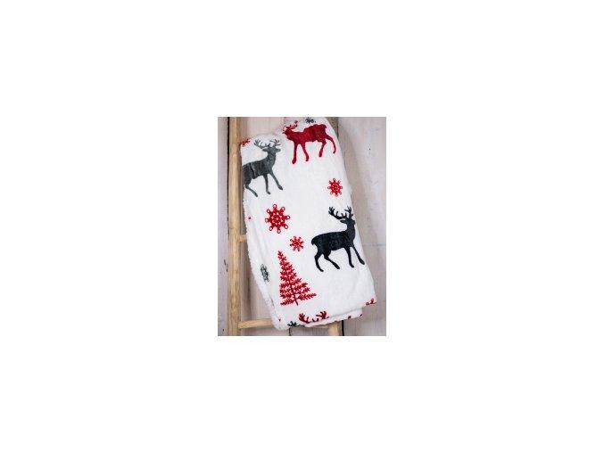 deka jelen červený