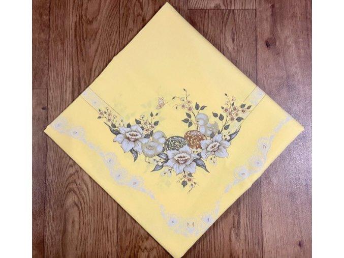 Ubrus - VELIKONOCE - žlutý