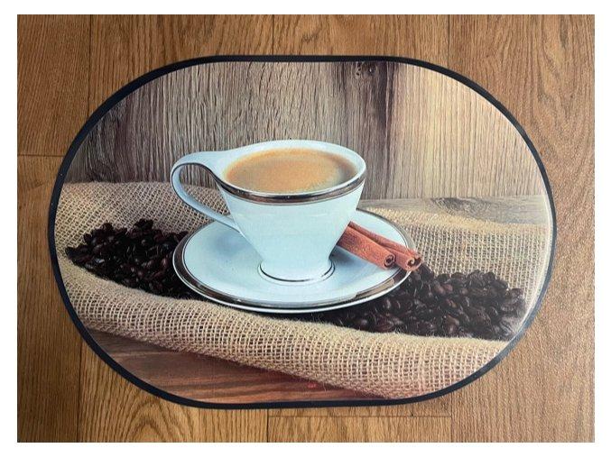 prostírání káva