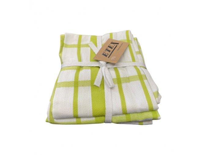 utěrka egyptská bavlna zelená kostka