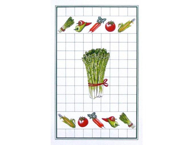 Utěrka zelenina - chřest 1ks