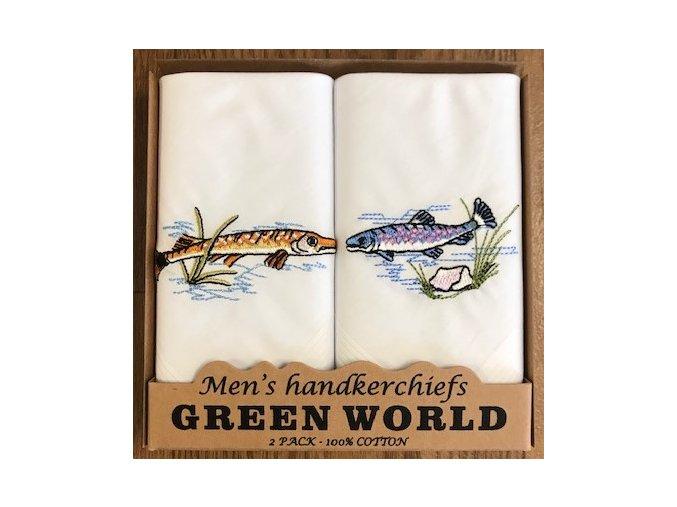 kapesník ryby bílé