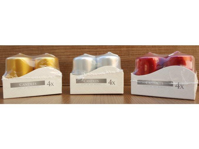 Jednobarevná svíčka - 4 ks