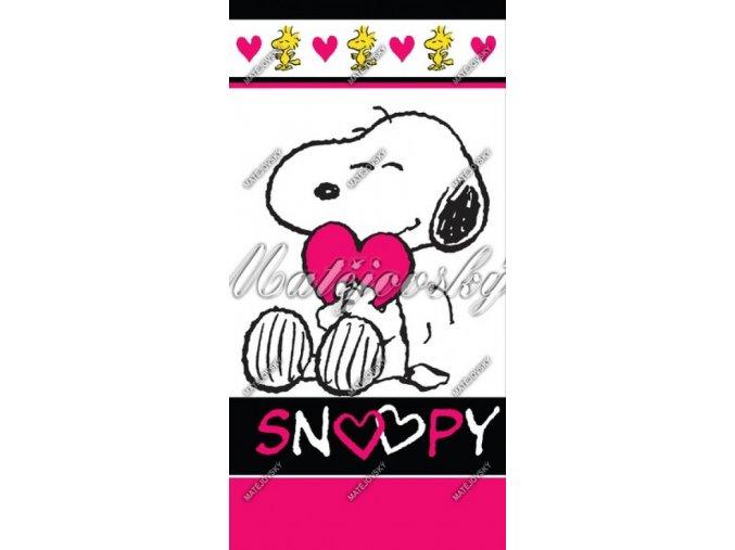 Osuška dětská SNOOPY LOVE