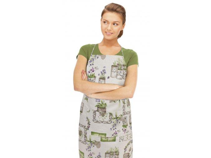 Kuchyňská zástěra - FIALOVÁ ROMANCE