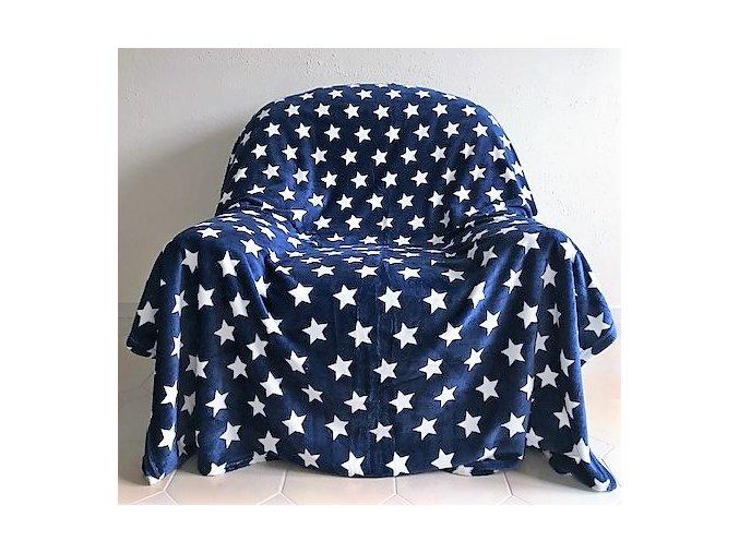 deka hvězdičky modré