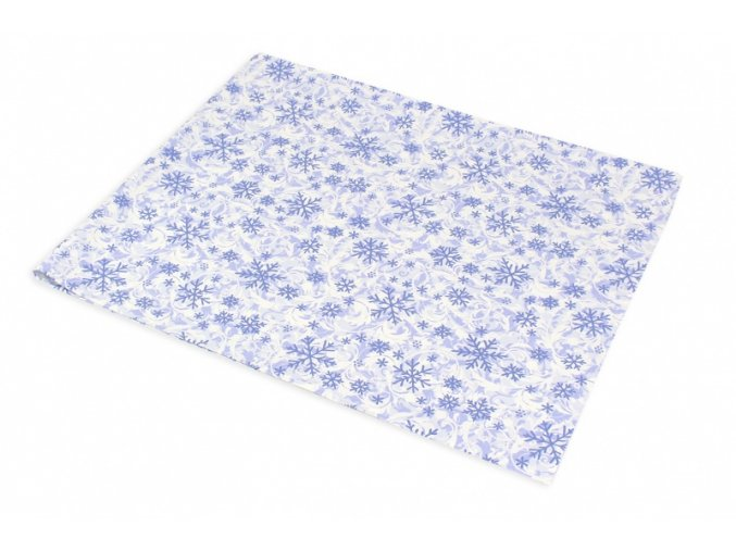 ubrus vločky modr bílé