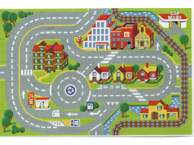 koberec městečko