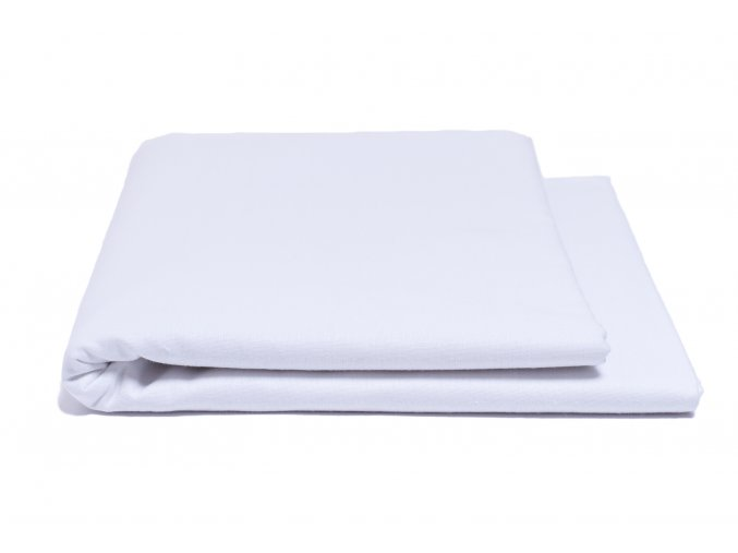 Prostěradlo hladké bílé 240/220 cm