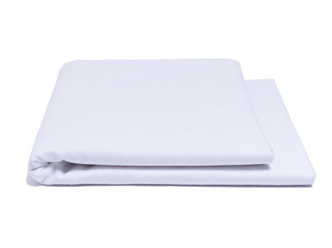 Prostěradlo hladké bílé 140/240 cm