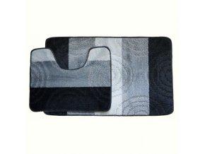 Koupelnová předložka Comfort Silver - černá