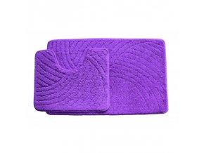 Koupelnová předložka dvoudílná - fialová