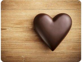 prostirani cokoladove srdce