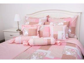 patchwork pink uni pink