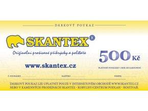 poukaz skantex 500Kč