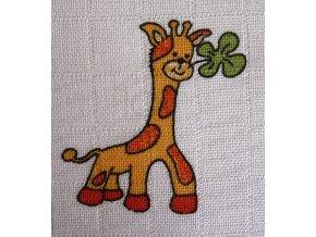 plena tisk žirafa
