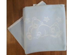 Dětská deka s výšivkou 75/100cm - různé barvy
