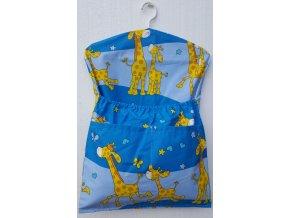 Dětský kapsář s ramínkem - žirafa modrá