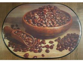 Prostírání - zrnka kávy