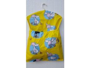 Dětský kapsář s ramínkem - ovečka žlutá