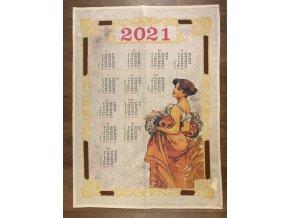 kalendář chýše béžový