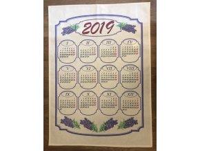 kalendář levandule bílý