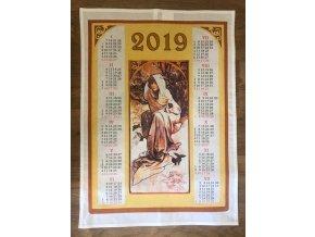 kalendář žena bílý