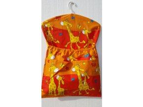 Dětský kapsář s ramínkem - žirafa oranžová