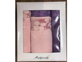 Dárkové balení ručníků FLORA 4 ks