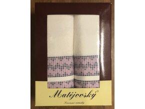Dárkové balení ručníků 4 ks - bílá