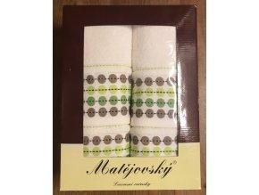 Dárkové balení ručníků 4 ks - puntíky