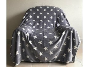 deka hvězdičky šedé