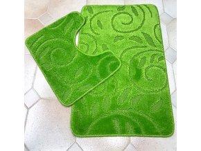 Koupelnová předložka dvoudílná - zelená