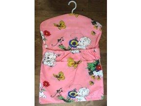 Dětský kapsář s ramínkem - dalmatín růžový