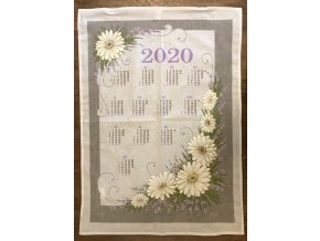 Kalendář KVĚTINY šedé 2020