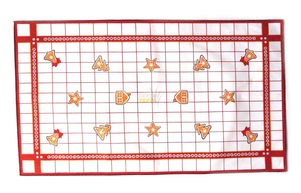 frolen Vánoční utěrka - PERNÍČKY ČERVENÉ varianta: 45x75 cm