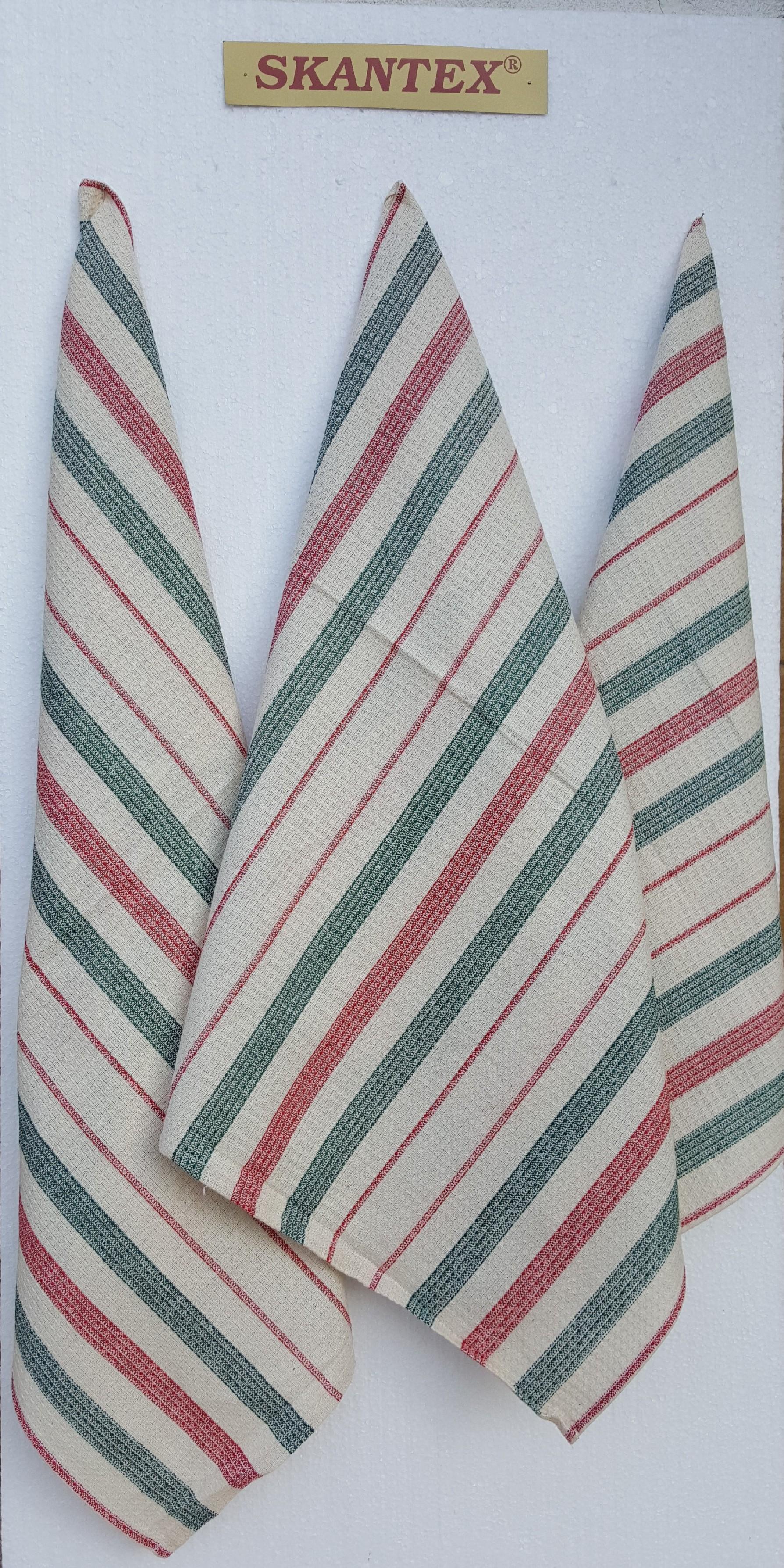 SKANTEX Pracovní ručník - barevný proužek barva: červeno-zelený proužek