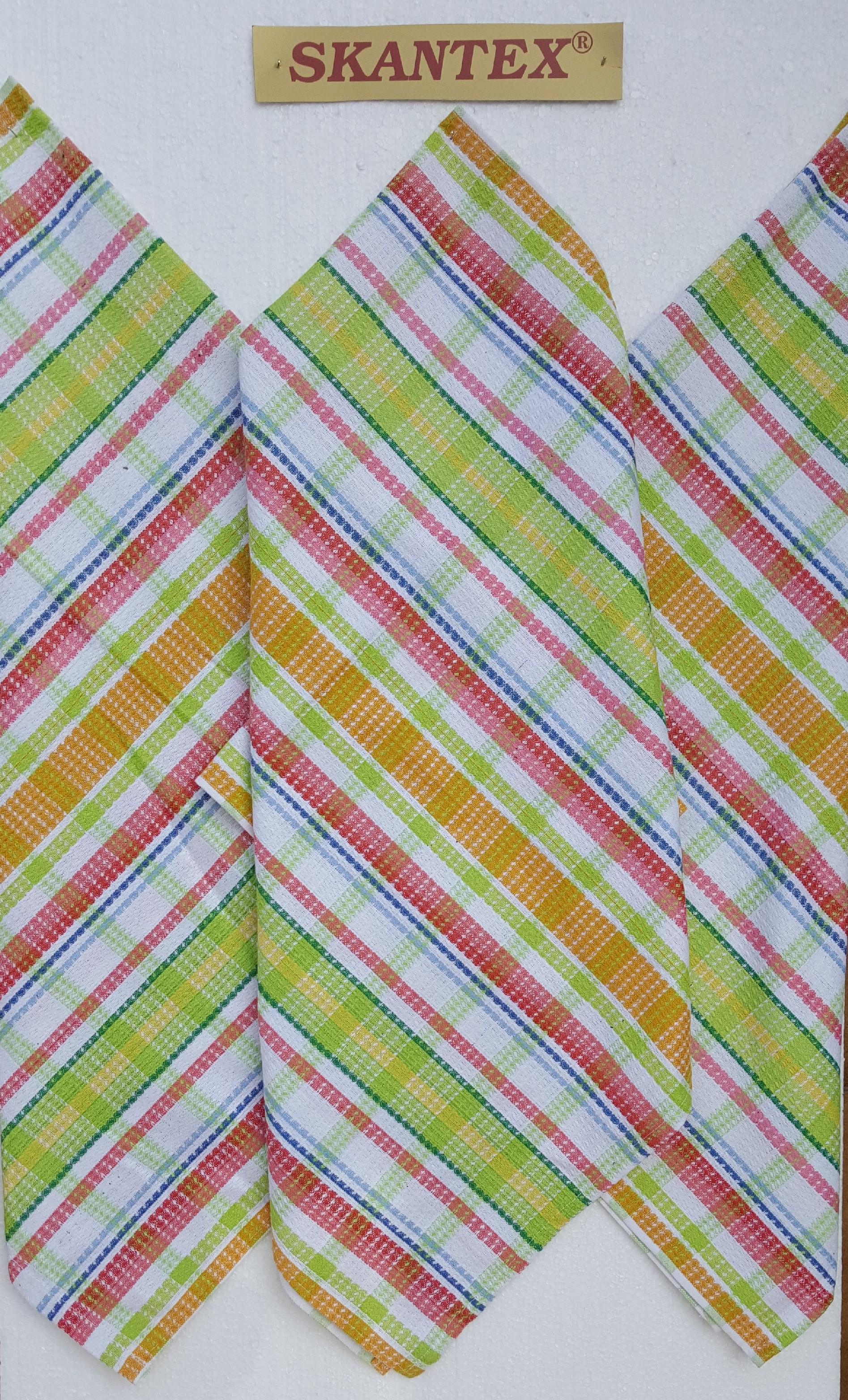 SKANTEX Pracovní ručník -zelená kostka barva: zelená kostka