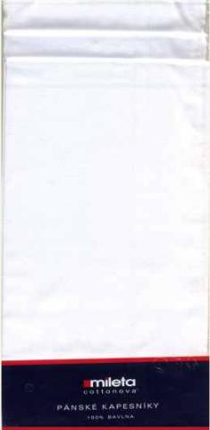 Mileta a.s. Pánský kapesník 6 ks - bílý varianta: pánský - bílý 6 ks