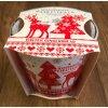 svíčka vánoce sob červený