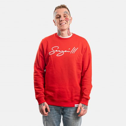 Sergei!!! Crewneck Fire Red